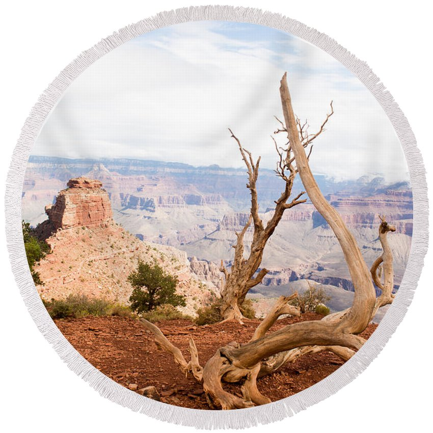 Grand Canyon Round Beach Towel featuring the photograph Grand Canyon by Jamie Heeke