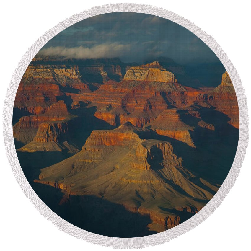 Grand Canyon Round Beach Towel featuring the photograph Grand Canyon by Rod Wiens
