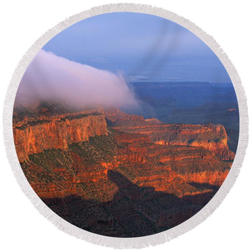 Grand Canyon Round Beach Towel featuring the photograph Grand Canyon by Ron Sanford