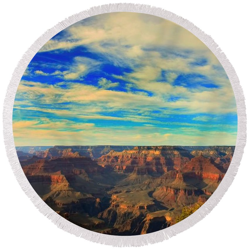 Grand Canyon Round Beach Towel featuring the photograph Grand Canyon South Rim by Amanda Stadther