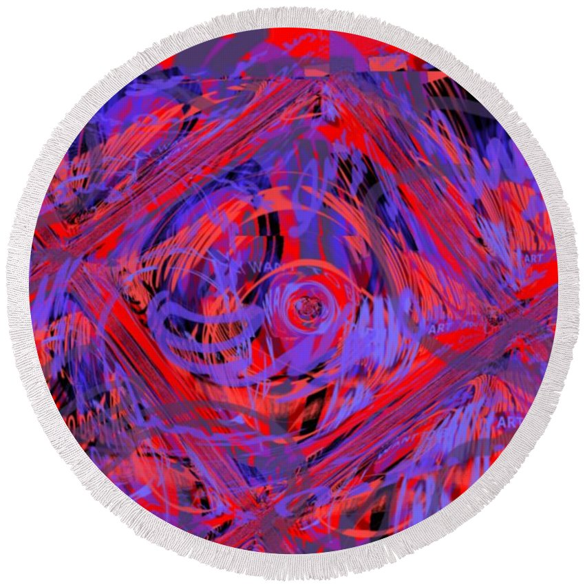 Graphic Art Round Beach Towel featuring the digital art Graphic Explosion by Pharris Art