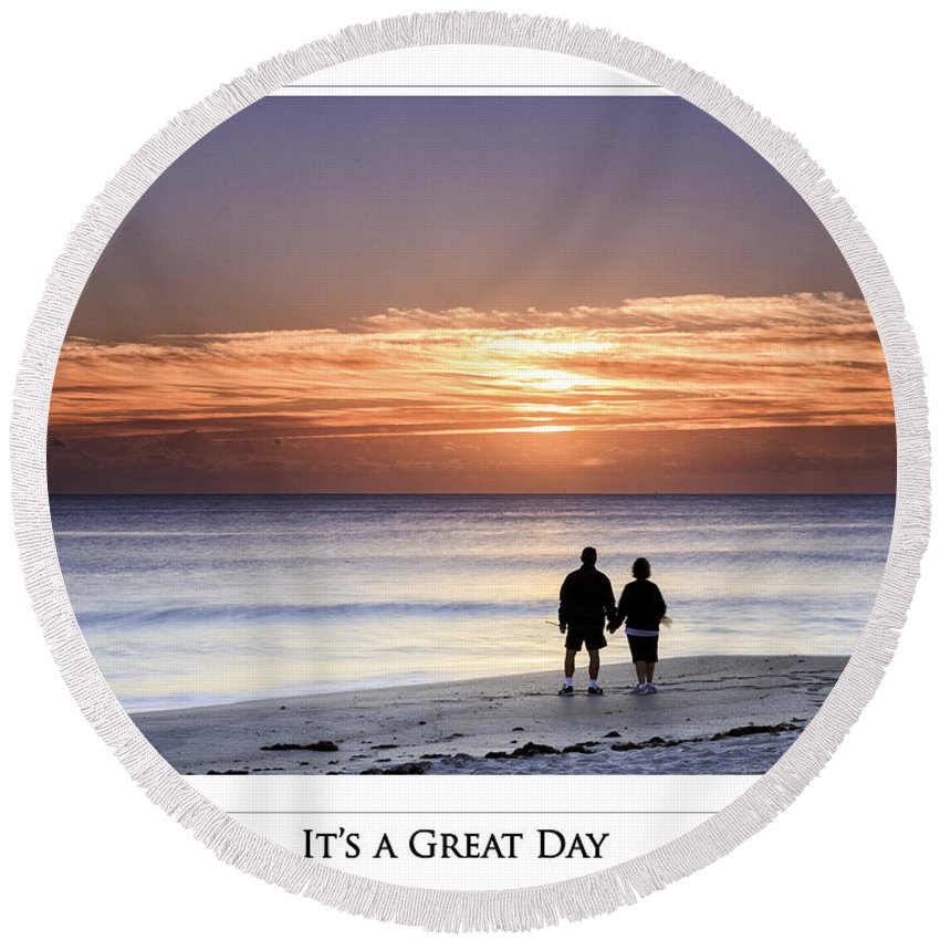 Great Day Round Beach Towel featuring the photograph Great Day Poster by Fran Gallogly