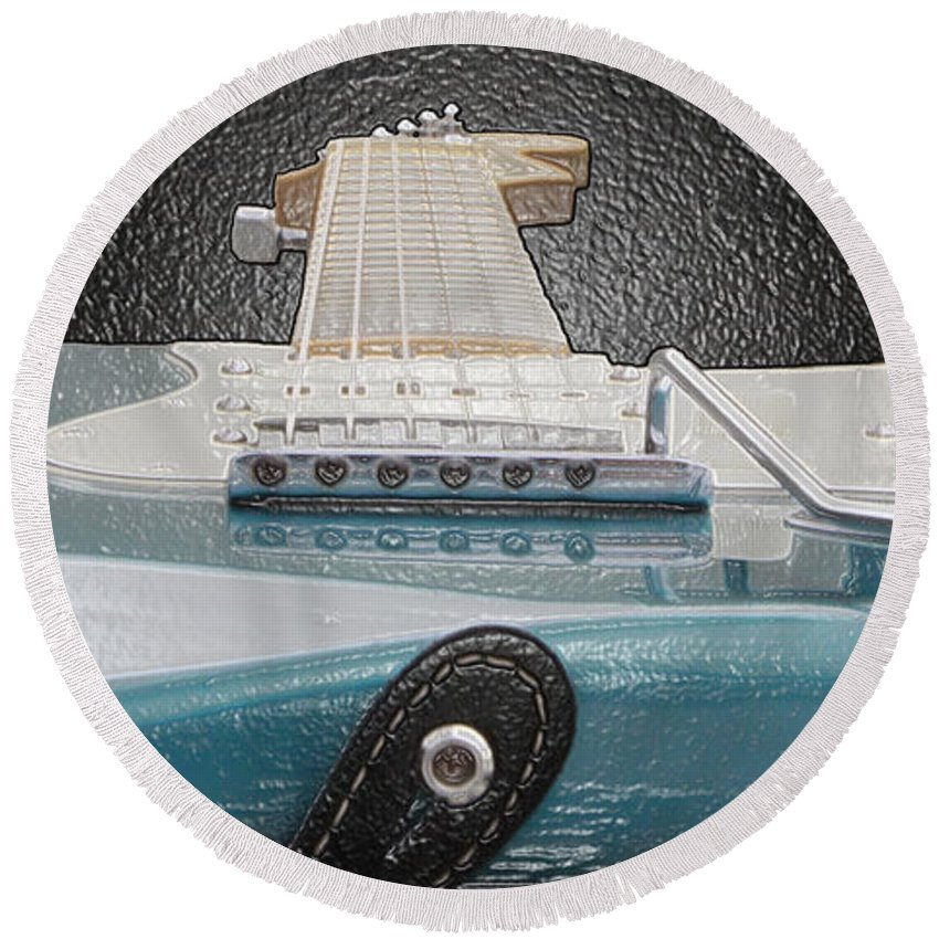 Guitar Round Beach Towel featuring the photograph Guitar Art by Shoal Hollingsworth