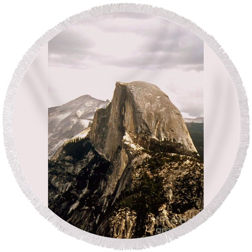 Half Round Beach Towel featuring the photograph Half Dome by Kathleen Struckle
