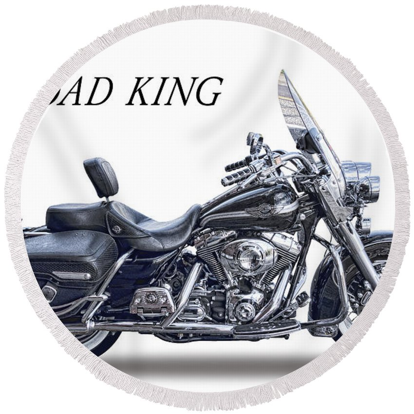 King Of The Road Round Beach Towels