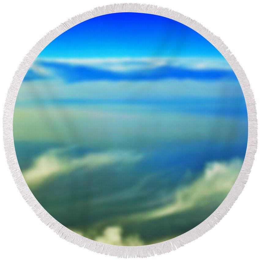 Heaven Round Beach Towel featuring the photograph Heavenly Peace by Gwyn Newcombe
