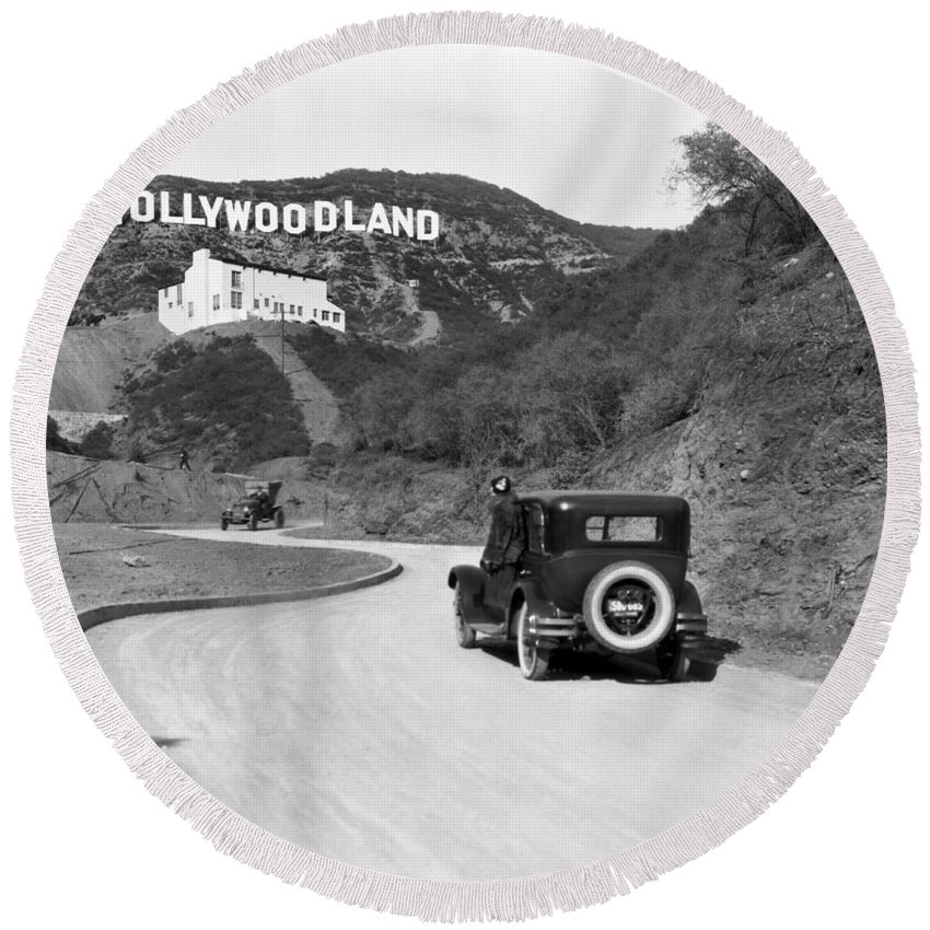 Hollywood Round Beach Towels