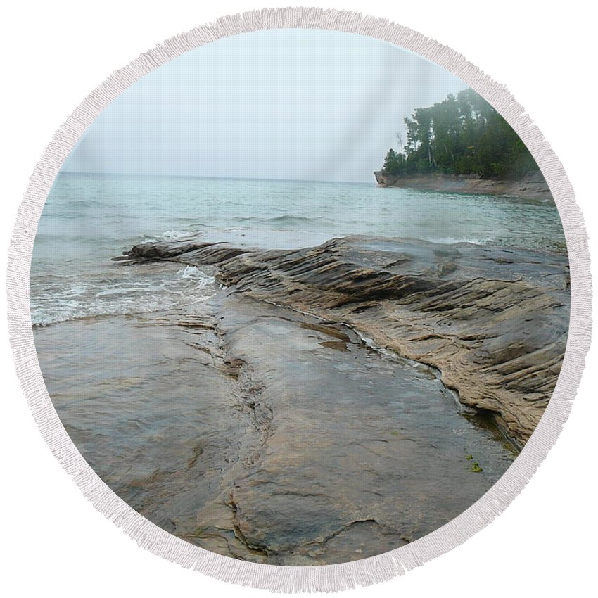 Upper Peninsula Round Beach Towel featuring the photograph Home Away From Home by Two Bridges North