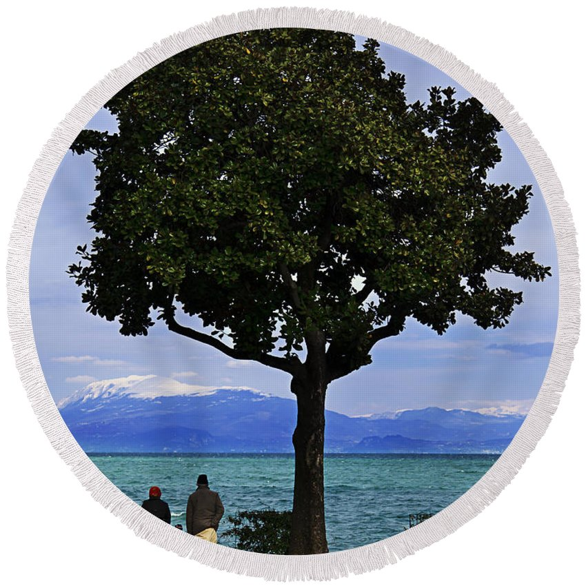 Lago Di Garda Round Beach Towel featuring the photograph Hopes Wishes And Dreams by Alfio Finocchiaro