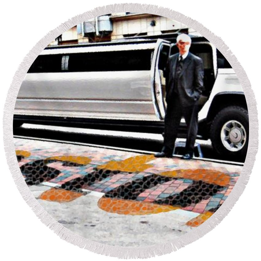 Boston Round Beach Towel featuring the photograph Hummer by Marcello Cicchini