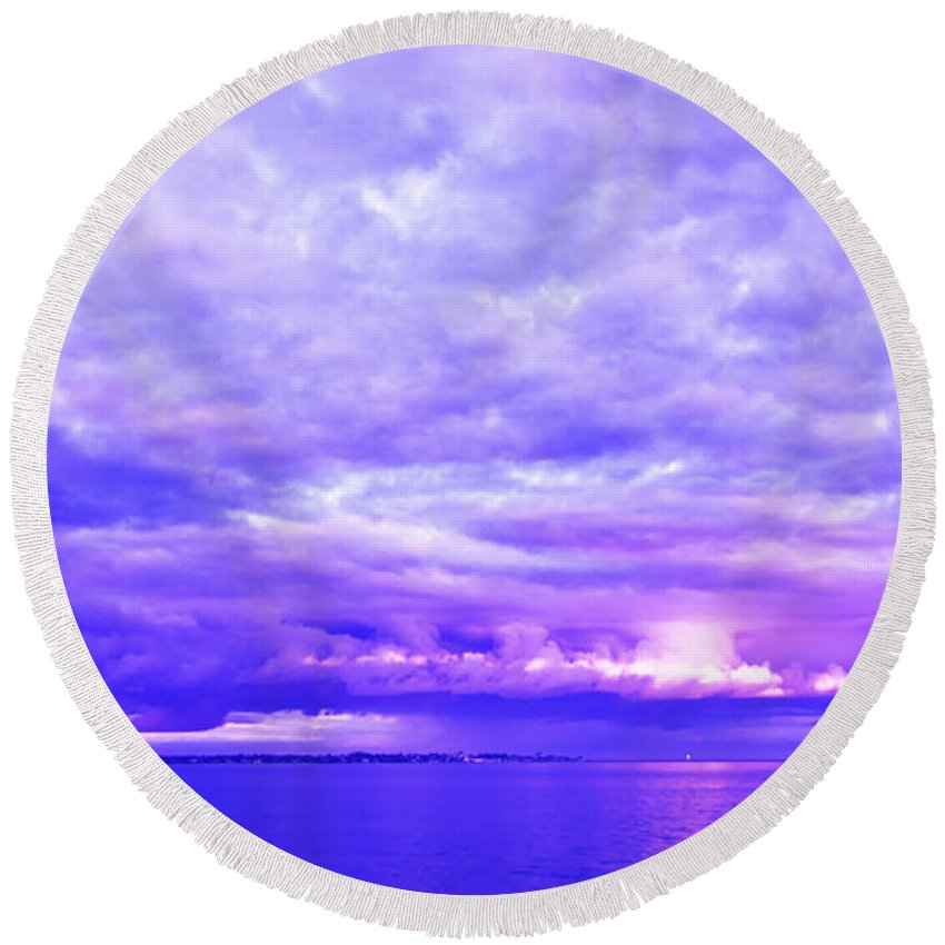 Hill Round Beach Towel featuring the photograph Impending Weather by Joe Geraci