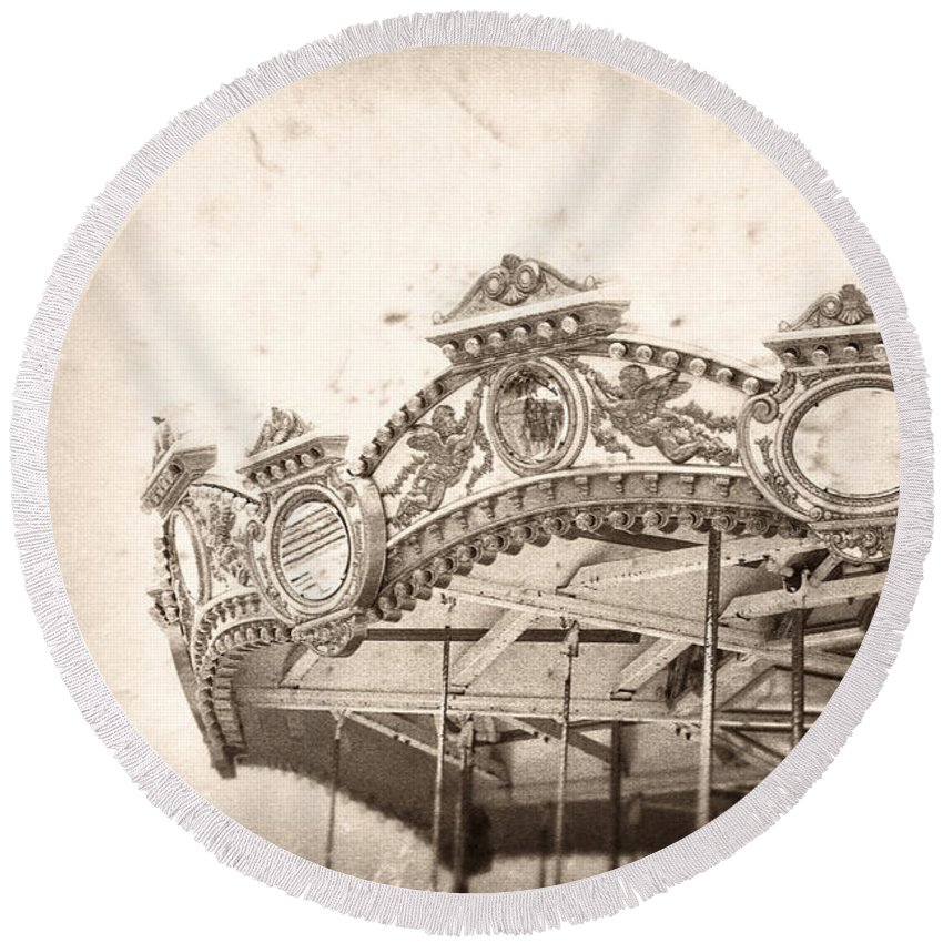 Boardwalk Round Beach Towel featuring the photograph Impossible Dream by Trish Mistric