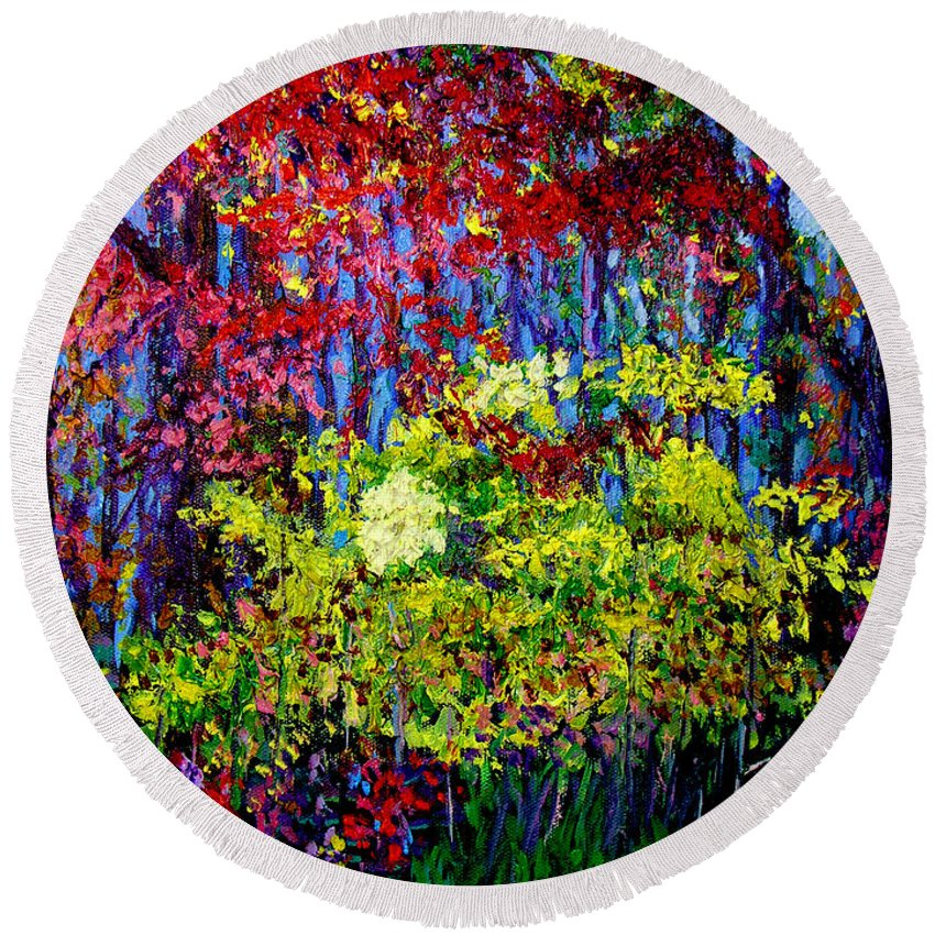 Impressionism Round Beach Towel featuring the painting Impressionism 1 by Stan Hamilton