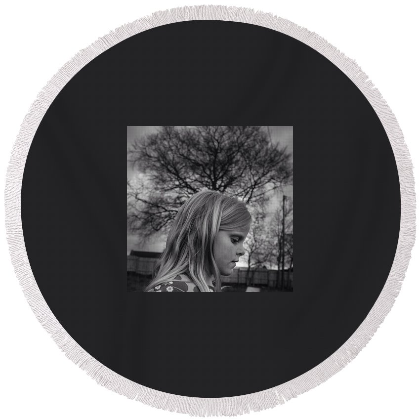 Beautiful Round Beach Towel featuring the photograph In The Backyard by Aleck Cartwright