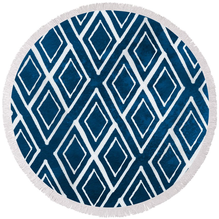 Pattern Round Beach Towels