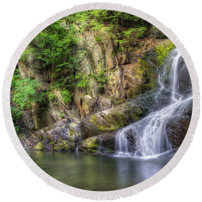 Indian Brook Falls Round Beach Towel featuring the photograph Indian Brook Falls by Rick Kuperberg Sr