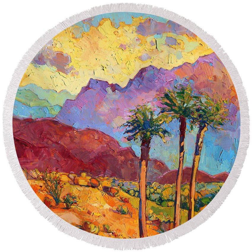 Impressionism Round Beach Towels