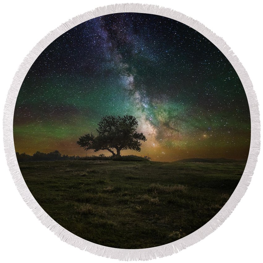 #aaron J. Groen Round Beach Towel featuring the photograph Infinity by Aaron J Groen