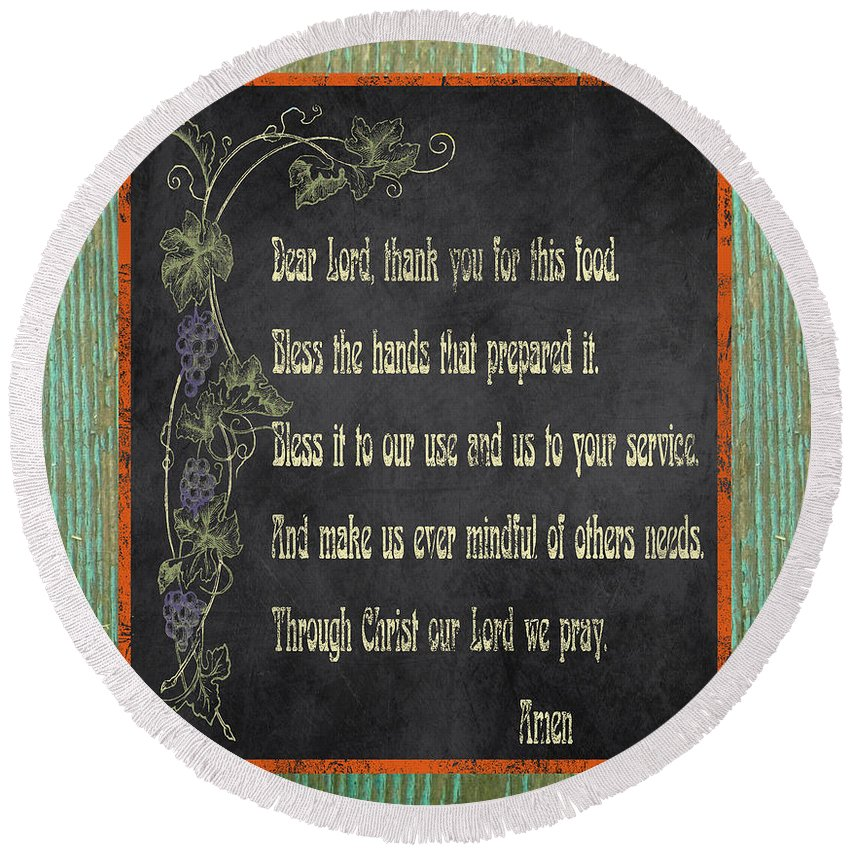 Digital Art Round Beach Towel featuring the painting Inspirational Chalkboard-d2 by Jean Plout