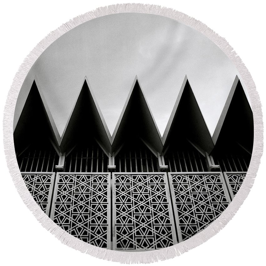 Mosque Round Beach Towel featuring the photograph Islamic Geometry by Shaun Higson