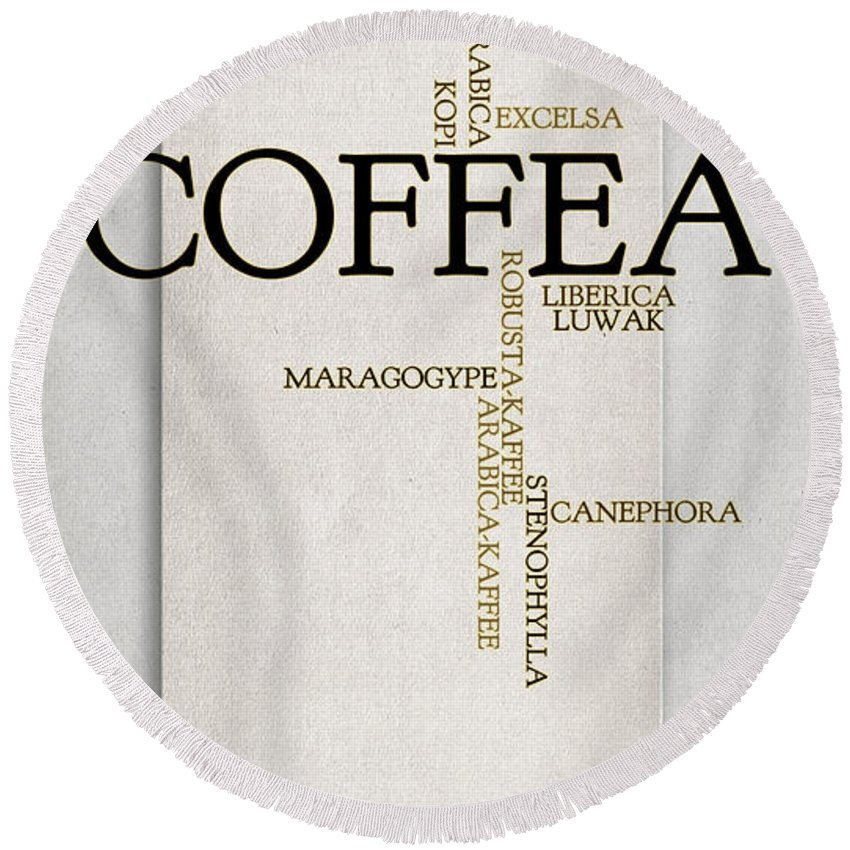 Coffee Round Beach Towel featuring the photograph It's Coffee Time by Heike Hultsch