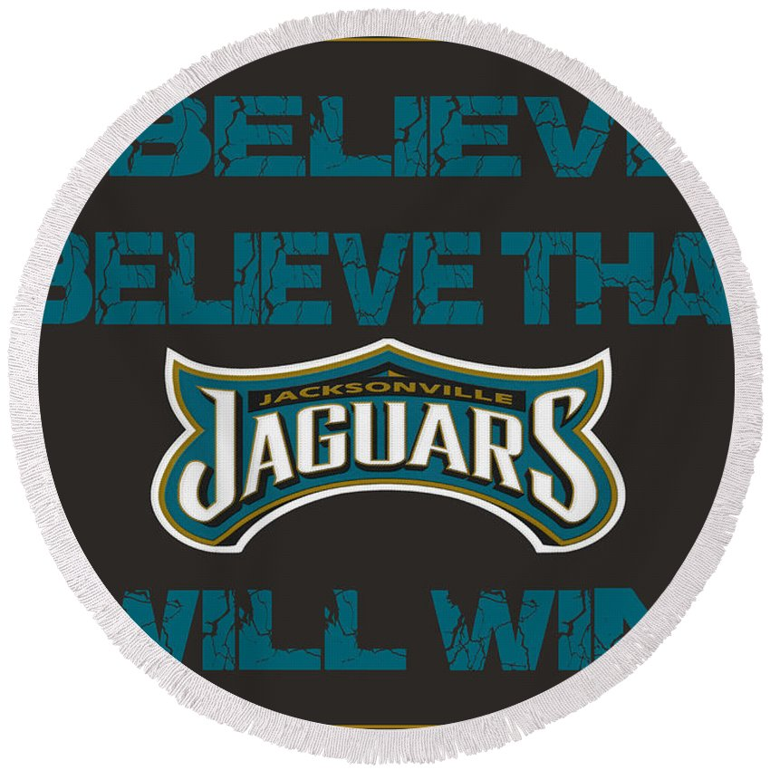 Jaguars Round Beach Towel featuring the photograph Jacksonville Jaguars I Believe by Joe Hamilton