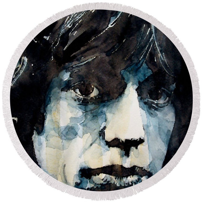 Mick Jagger Round Beach Towels