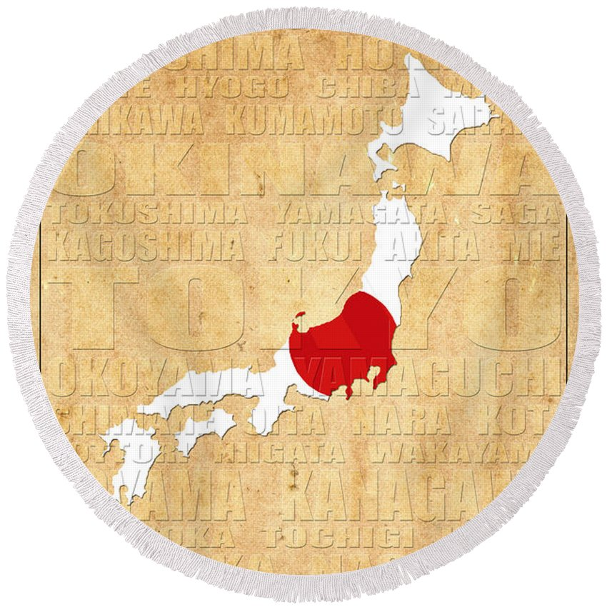 Japan Round Beach Towel featuring the photograph Japan by Andrew Fare