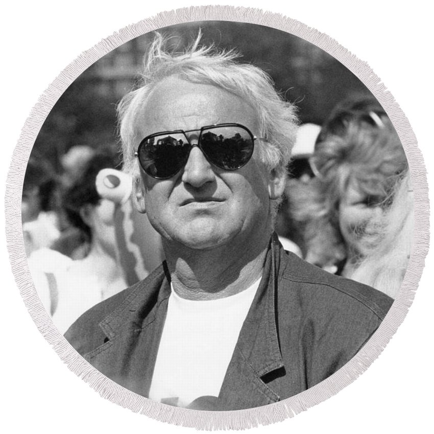 John Round Beach Towel featuring the photograph John Thaw Actor by David Fowler