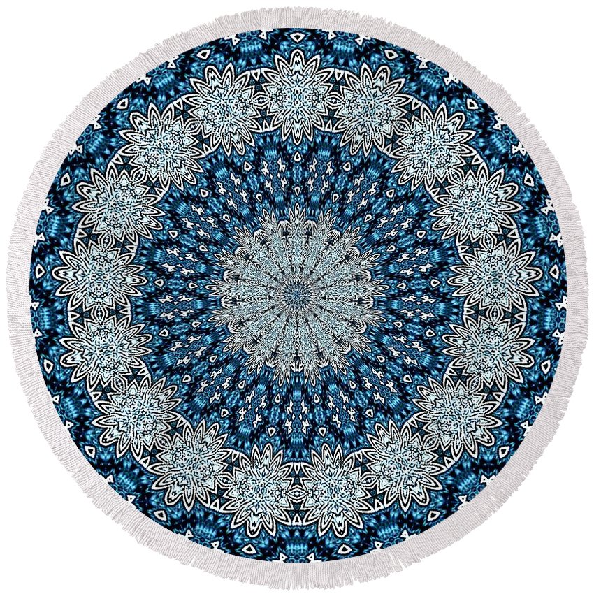 Kaleidoscope Round Beach Towel featuring the photograph Kaleidoscope 13 by Lena Photo Art