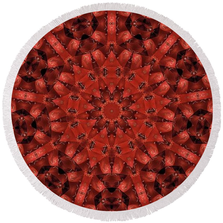 Kaleidoscope Round Beach Towel featuring the photograph Kaleidoscope 60 by Ron Bissett