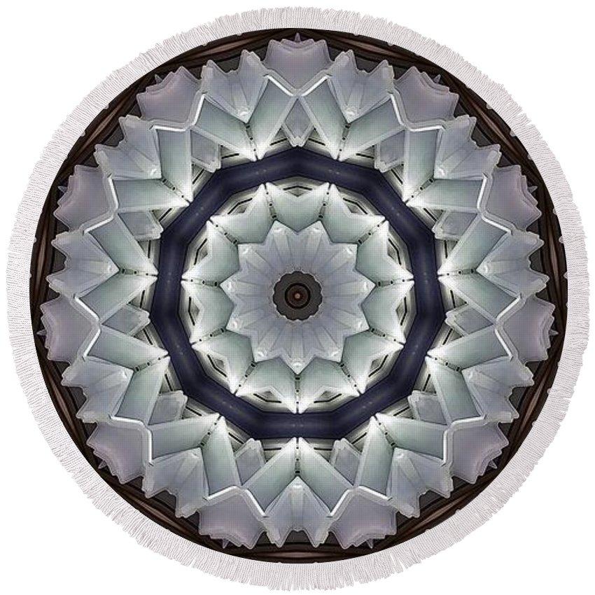 Kaleidoscope Round Beach Towel featuring the photograph Kaleidoscope 63 by Ron Bissett