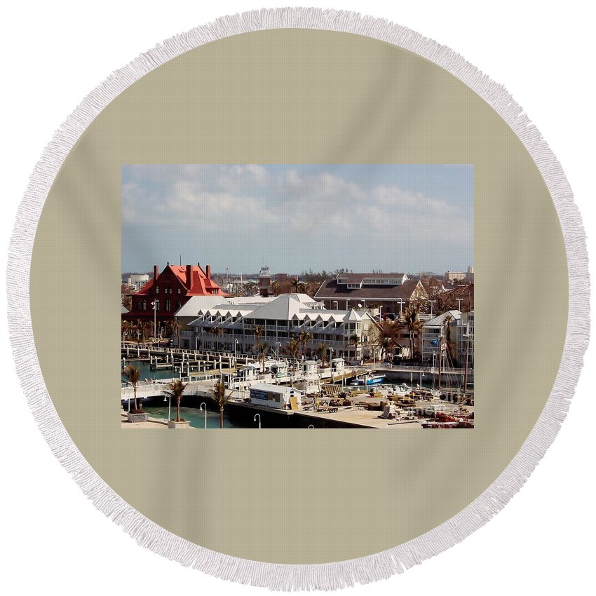 Florida Round Beach Towel featuring the photograph Key West by D Hackett