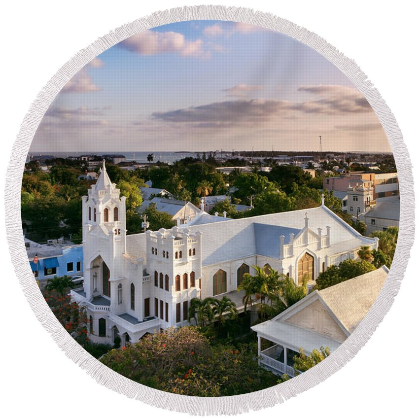 Key West Round Beach Towel featuring the photograph Key West by Rod McLean