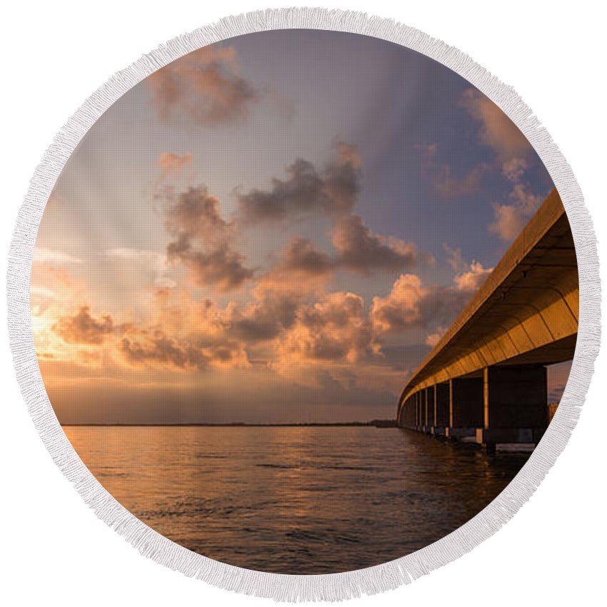 Florida Round Beach Towel featuring the photograph Keys by Chad Dutson