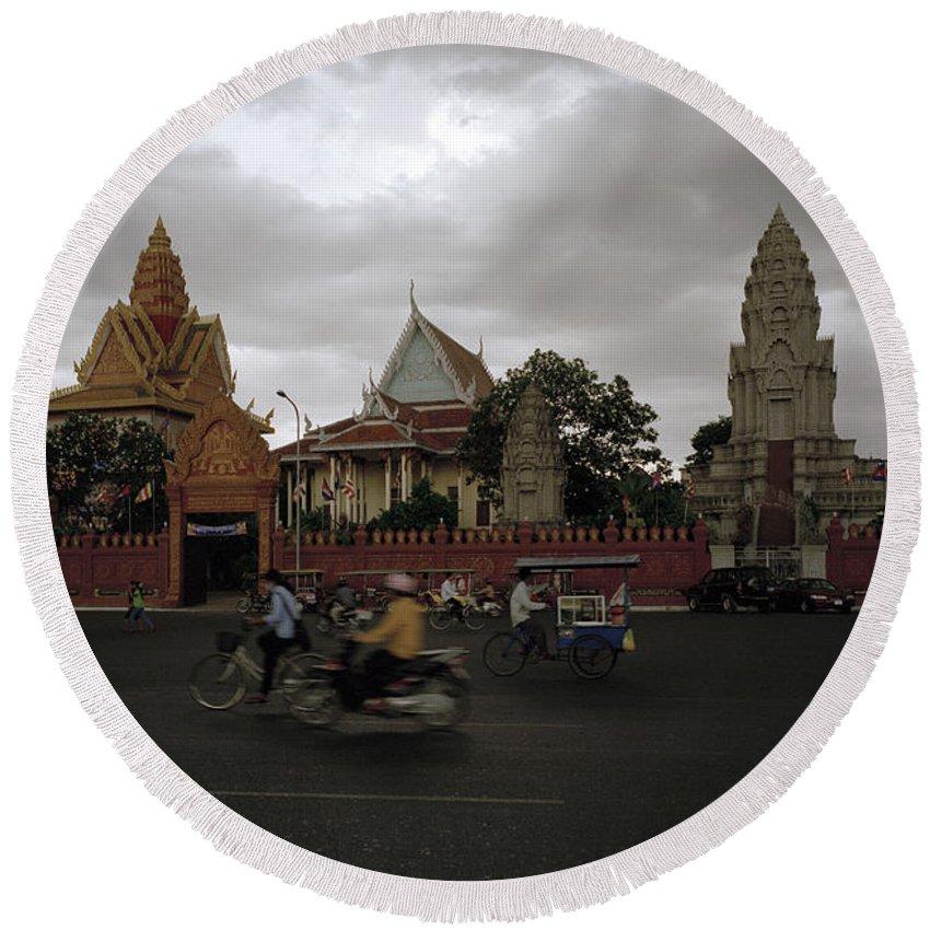 Khmer Round Beach Towel featuring the photograph Khmer Life by Shaun Higson