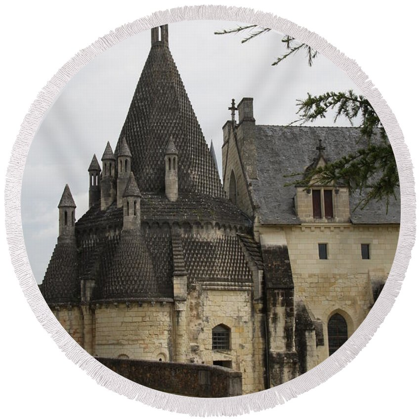 Kitchen Round Beach Towel featuring the photograph Kitchenbuilding - Fontevraud by Christiane Schulze Art And Photography