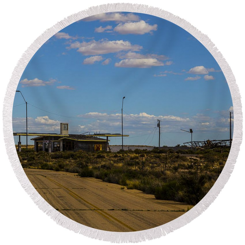 Route 66 Round Beach Towel featuring the photograph Koa For Sale by Angus Hooper Iii