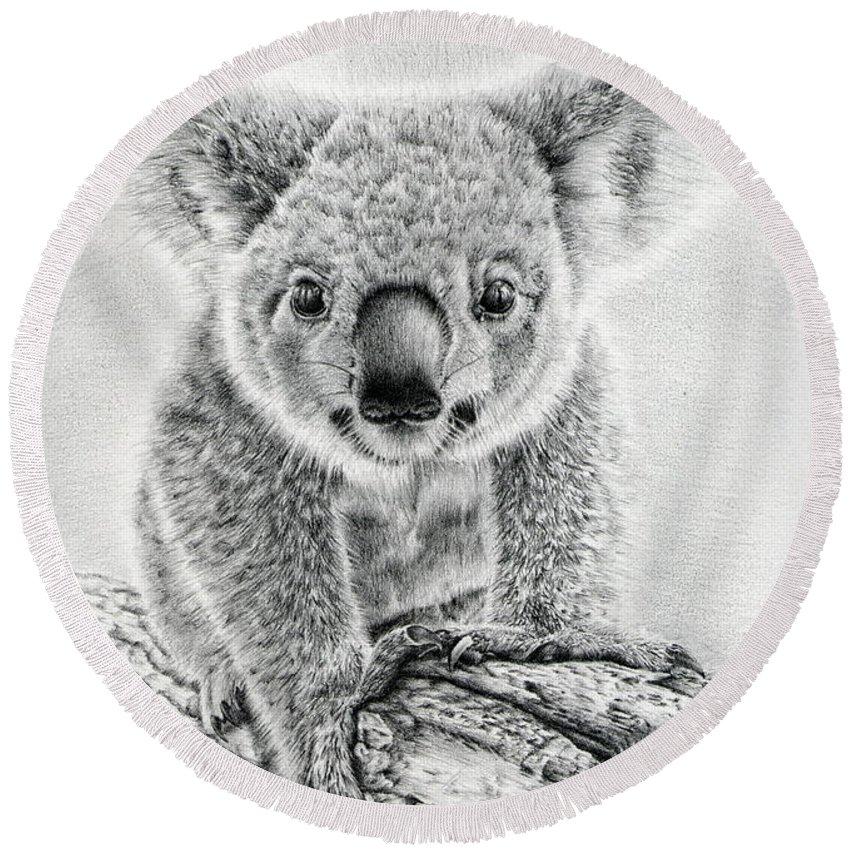 Koala Round Beach Towels