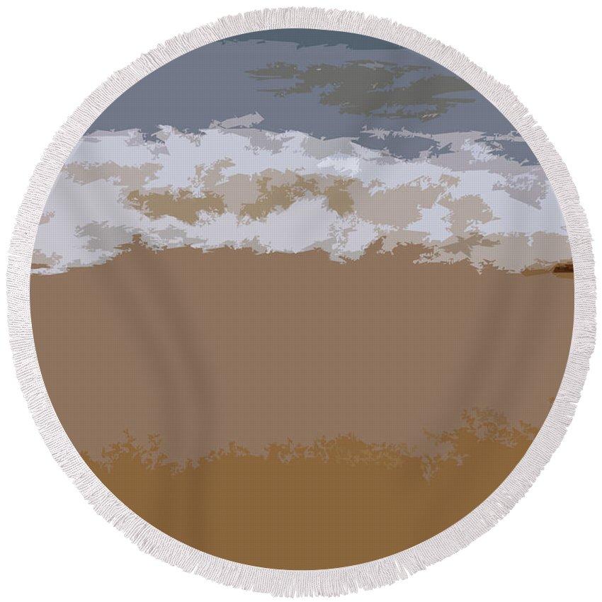 Beach Round Beach Towel featuring the photograph Lake Michigan Shoreline by Michelle Calkins