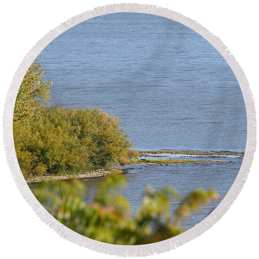Flower Round Beach Towel featuring the photograph Lake Pepin by Susan Herber