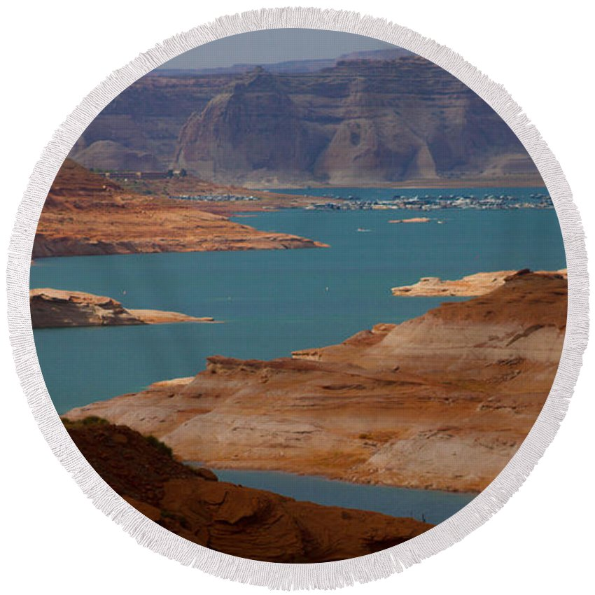 Lake Round Beach Towel featuring the photograph Lake Powell by Kathleen Odenthal