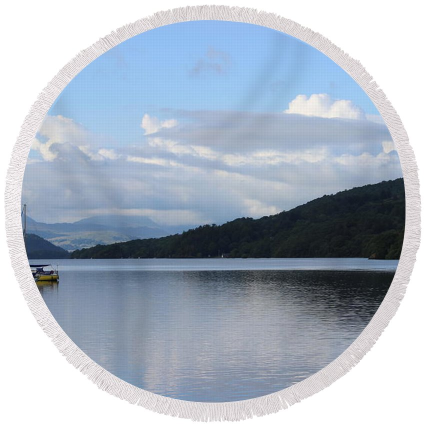 Lakes Round Beach Towel featuring the photograph Lake Windermere by Martin Newman
