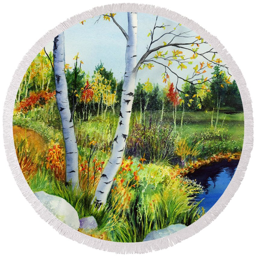 Lakeside Round Beach Towels