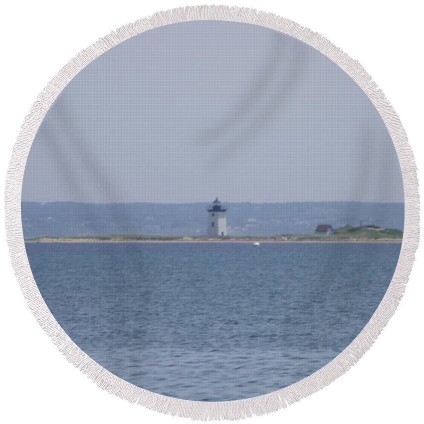 Provincetown Round Beach Towel featuring the photograph Land's End by Michelle Welles