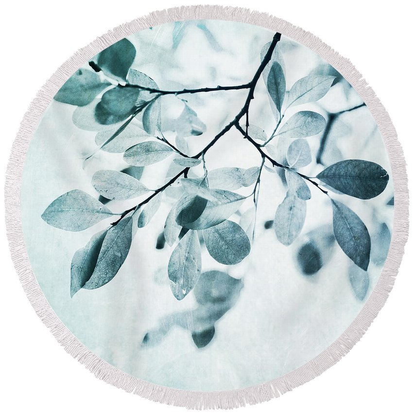 Nature Photographs Round Beach Towels