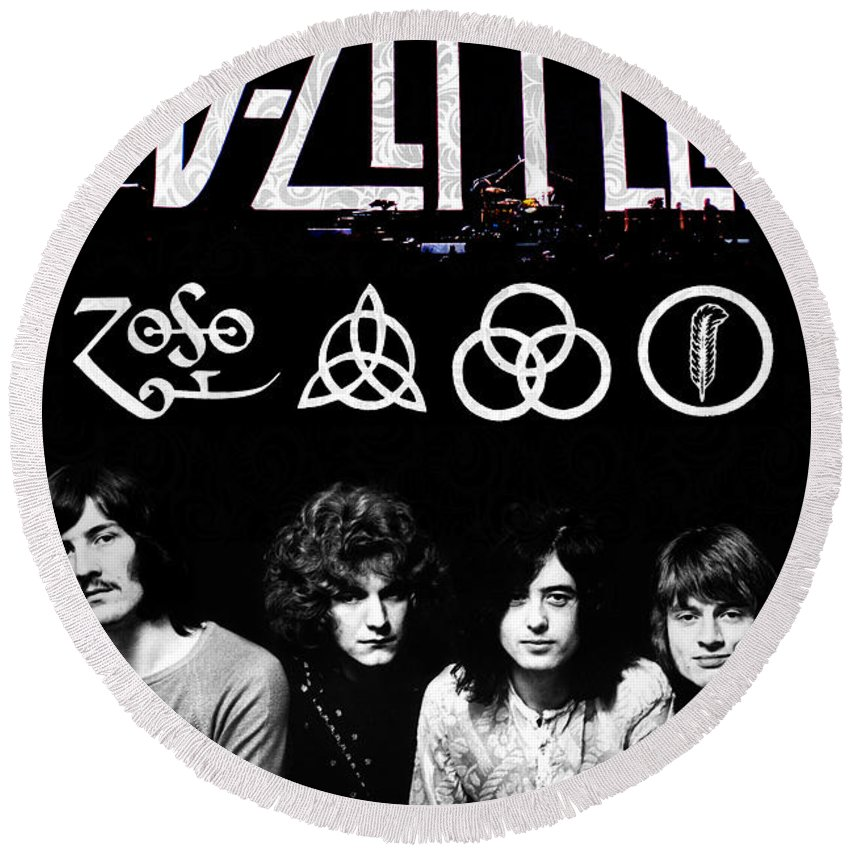 Led Zeppelin Round Beach Towels
