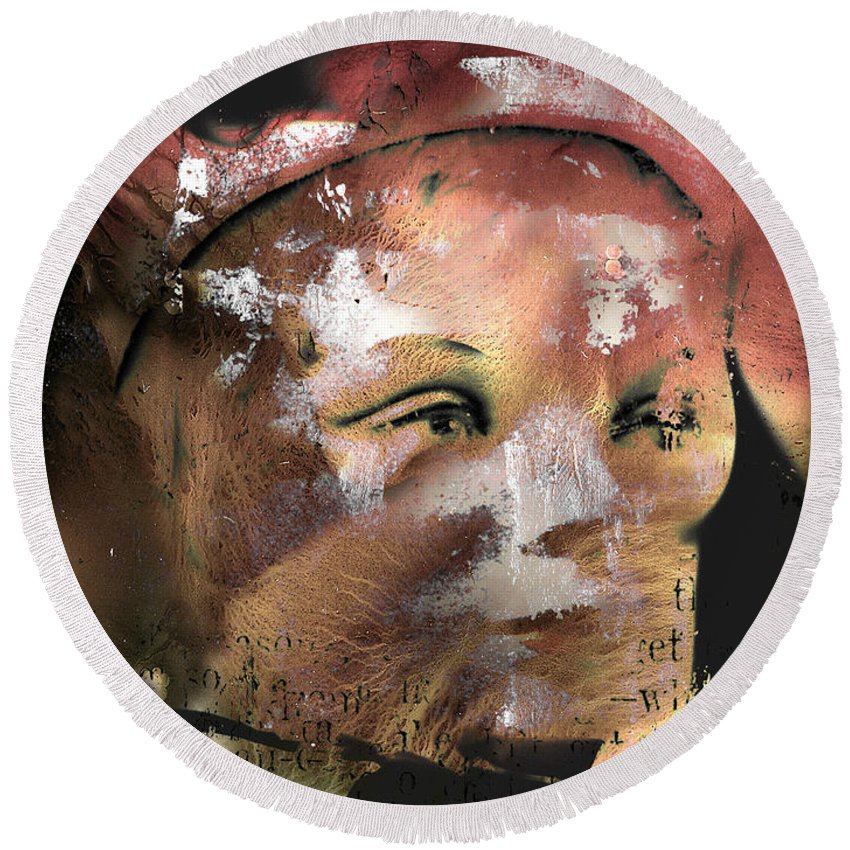 Abstract Round Beach Towel featuring the photograph Left Alone Willingly by The Artist Project