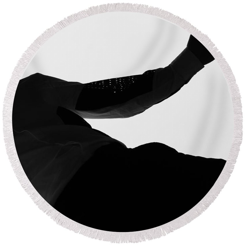 Abstract Round Beach Towel featuring the photograph Let Go Tomorrow by The Artist Project