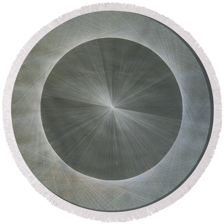 Light Round Beach Towel featuring the drawing Light Is Pi The Shape Of Pi by Jason Padgett